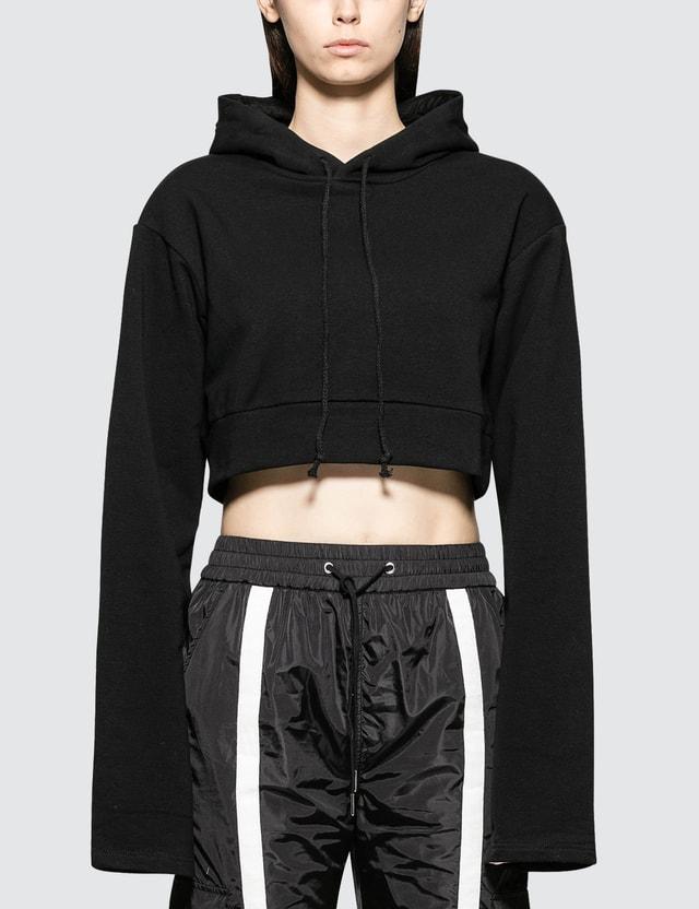 Danielle Guizio Oversized Hoodie Crop Sweatshirt