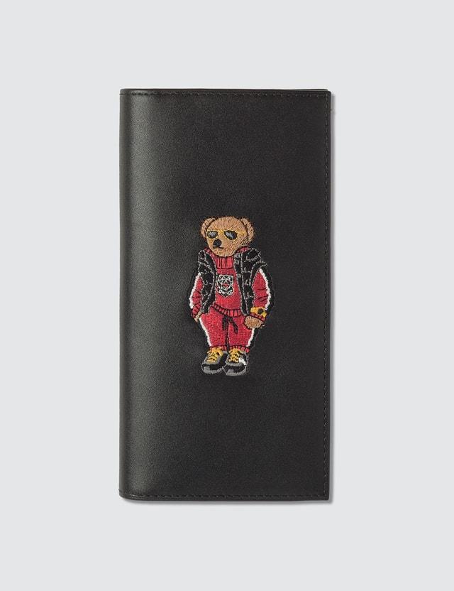 Polo Ralph Lauren Embroidered Polo Bear Long Wallet