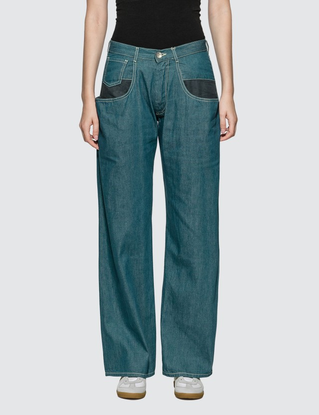 Maison Margiela Straight Jeans With Oversized Pockets