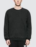 Maison Margiela Black Open End Fleece Sweater With Arm Patch Picture
