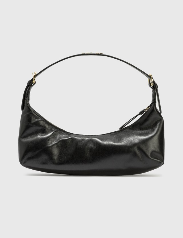 BY FAR Mara Black Leather Bag Black Bl Women