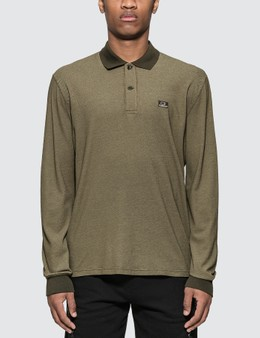CP Company Embroidered Logo Long Sleeve Polo