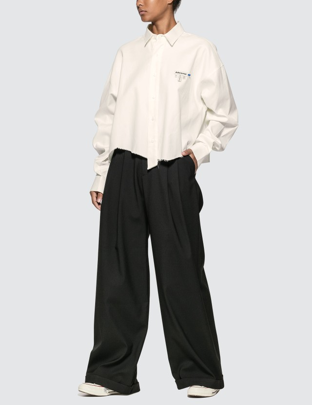 Ader Error Oversized Cropped Shirt