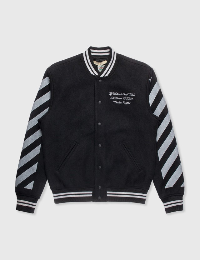 Off-White Off-White Wool Bomber Jacket Black Archives