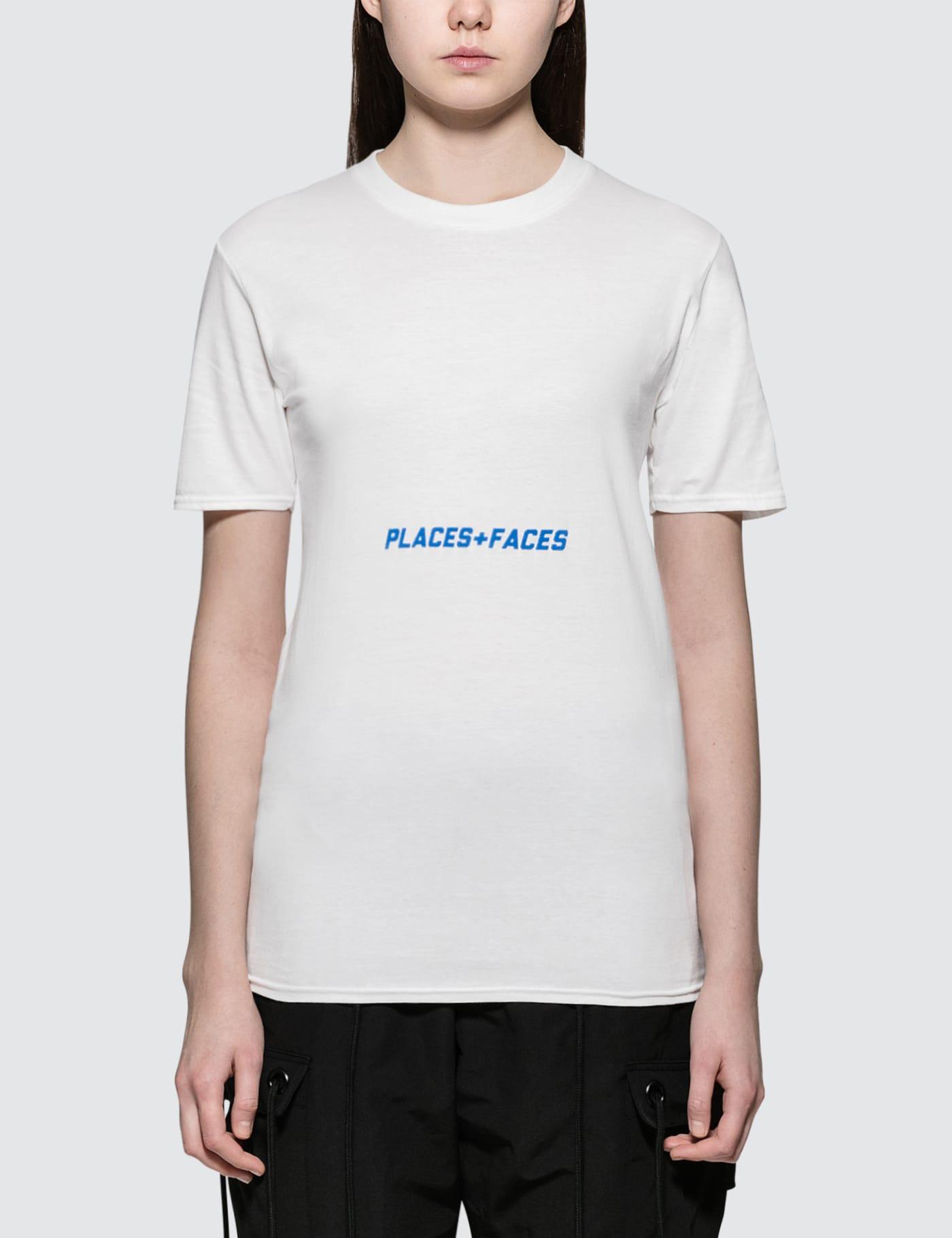 PLACES + FACES | Places + Faces Belly Blue Logo T-Shirt | Goxip