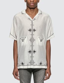 Saint Laurent Lamé Embroidered Tunic Shirt
