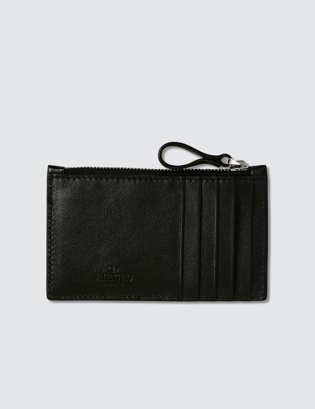 Valentino V Logo Zip Card Holder
