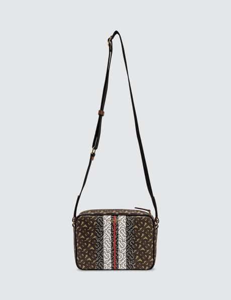 버버리 모노그램 스트라이프 크로스바디백 Burberry Monogram Stripe E-canvas Crossbody Bag