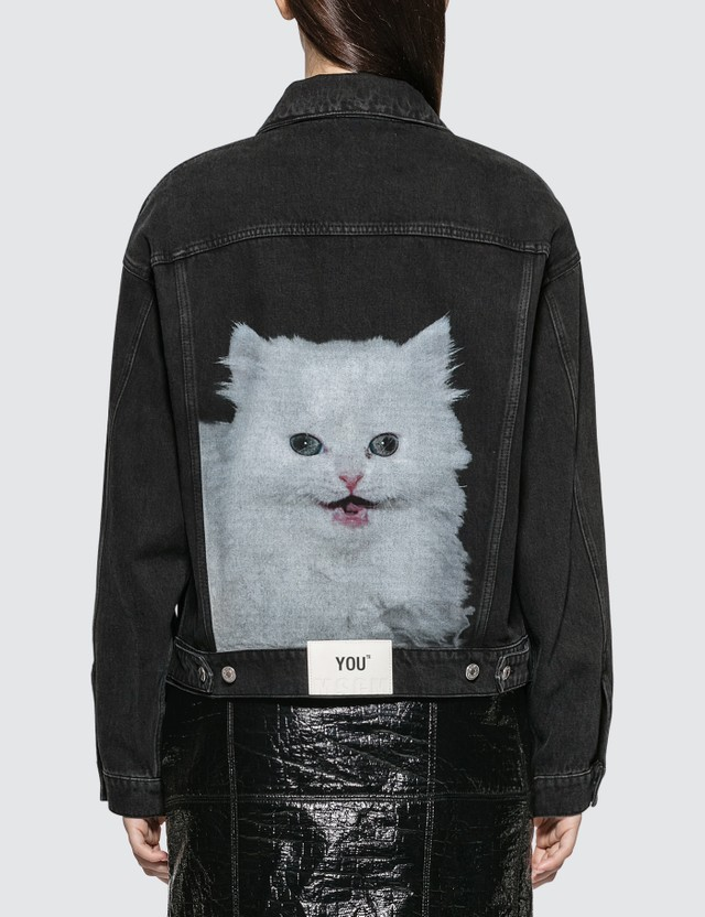 MSGM Cat Print Denim Jacket