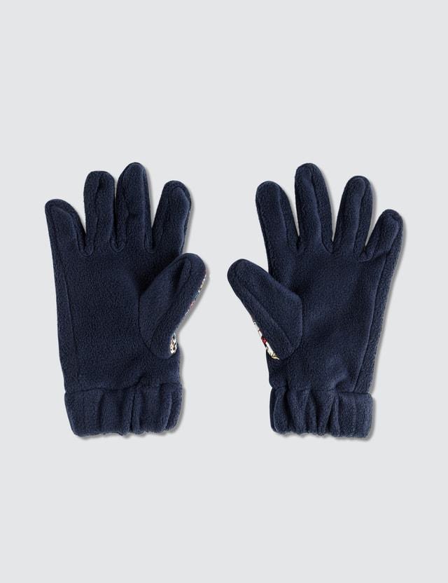 Paria Farzaneh Iranian Print Fleece Gloves