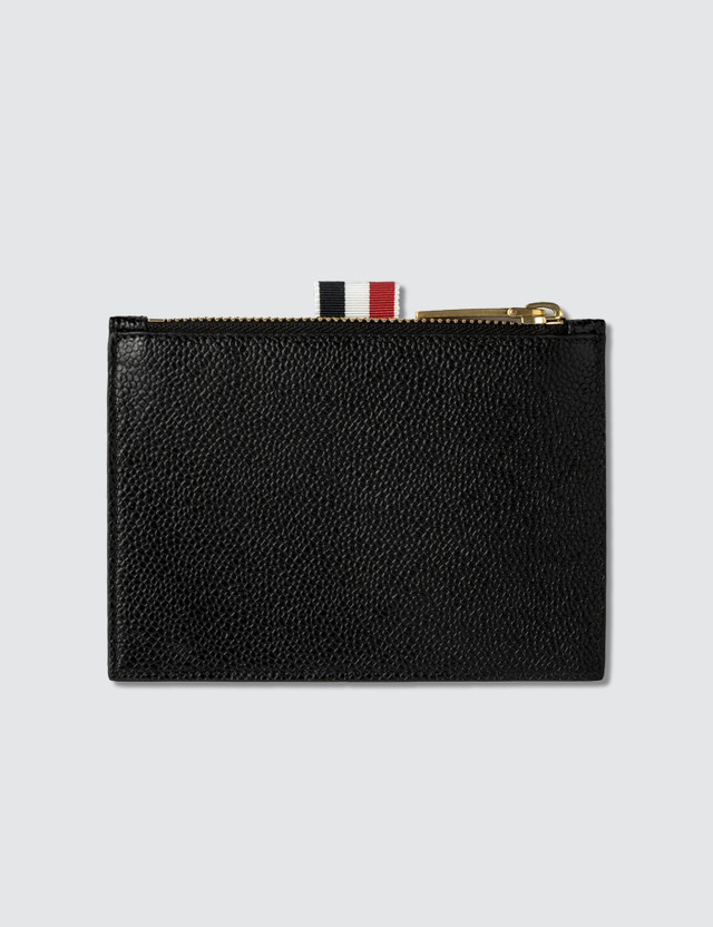 Thom Browne Small Coin Purse (14.5 Cm) In Pebble Grain