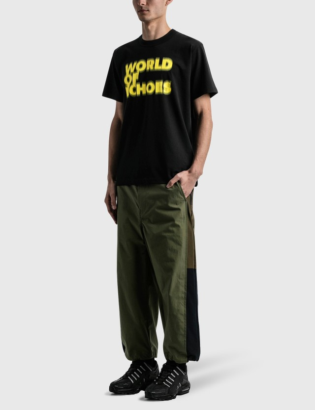 Sacai Francois K. T-shirt Black×yellow Men