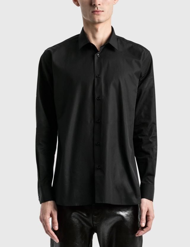 Saint Laurent Cotton Poplin Shirt White Men