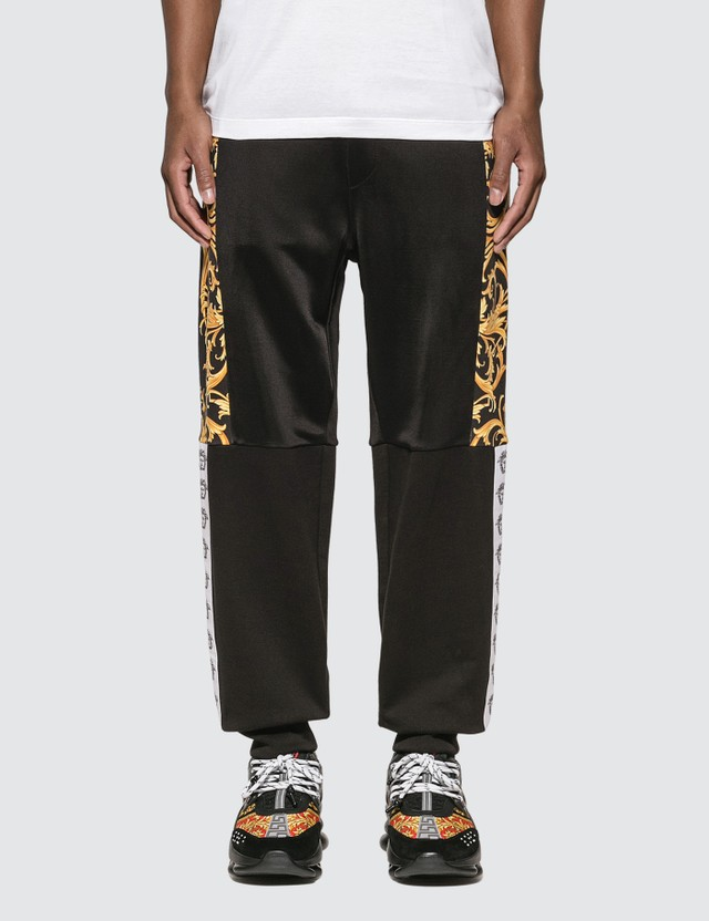 Versace Barocco Lounge Pants F.do Nero + Stampa Oro Men