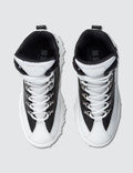 MSGM Chucky High Top Sneaker White + Black Women