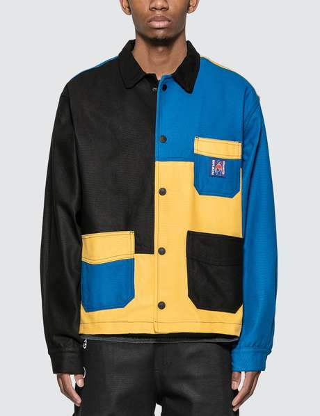브레인 데드 컬러블록 자켓 Brain Dead Colorblocked Canvas Chore Coat