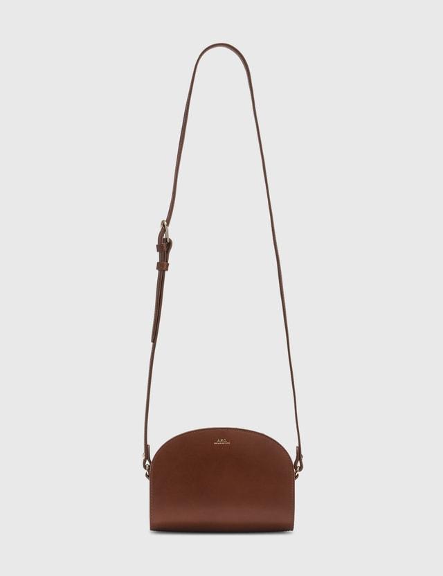 A.P.C. Half Moon Mini Bag Cad Hazelnut Women