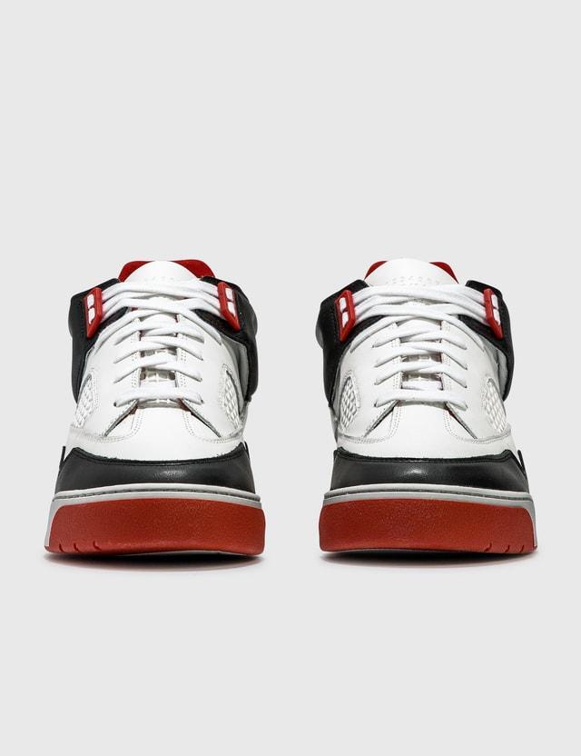 Maison Margiela DDSTCK Low-top Sneakers H8316 Red/white/black Men