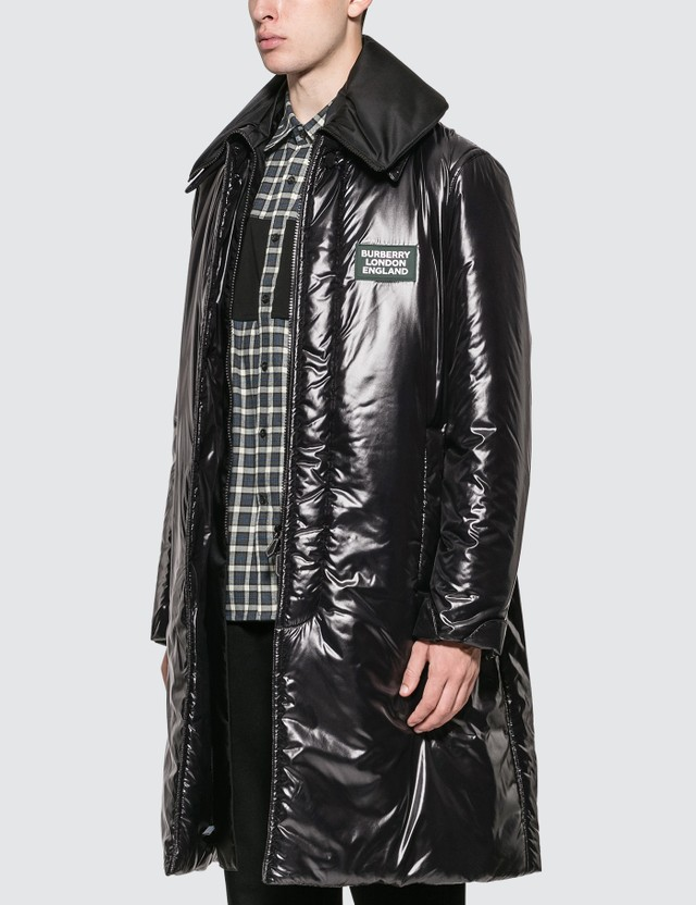 Burberry Detachable Funnel Neck Padded Nylon Car Coat