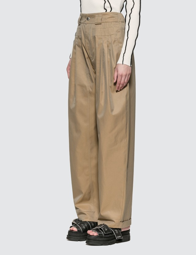 KOCHÉ Loose Trousers Dark Beige Women