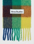 Acne Studios Vally Scarf Blue/orange/green Women