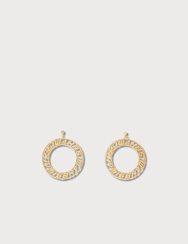 Misbhv Classic Logo Circle Earrings Gold Women