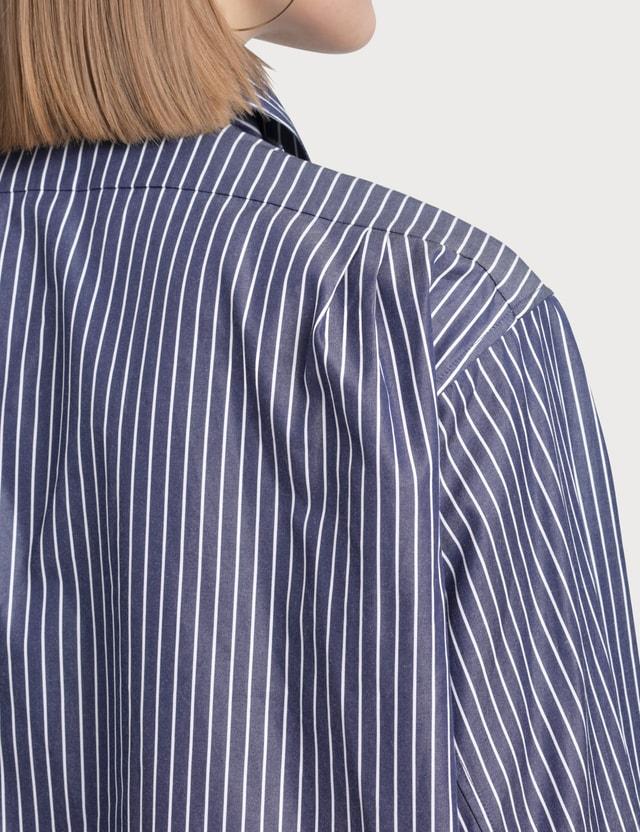 Loewe Strap Stripes Fringes Shirt Blue/white Women