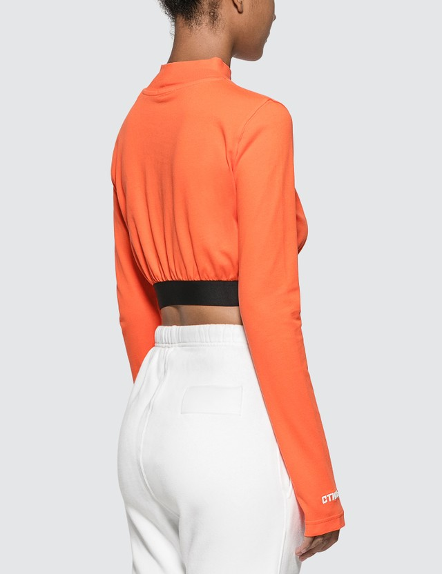 Heron Preston СTNMb Turtleneck Long Sleeve Crop Top