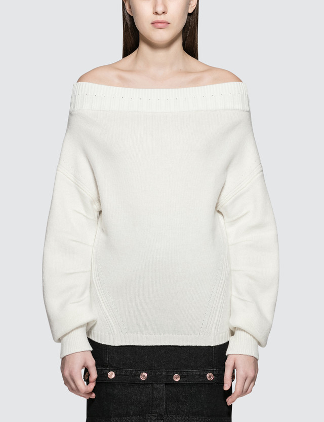 Opening Ceremony Off The Shoulder Sweater