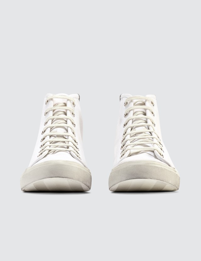 Saint Laurent Maltbu Used LT Sneaker Blanc Opti Men