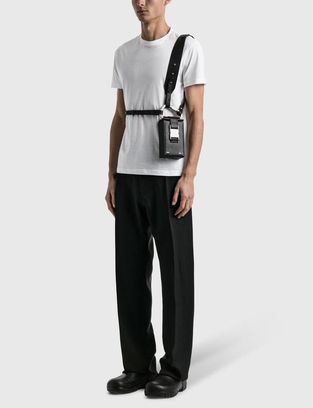 Heliot Emil Leather Carabiner Phone Sling Black Men
