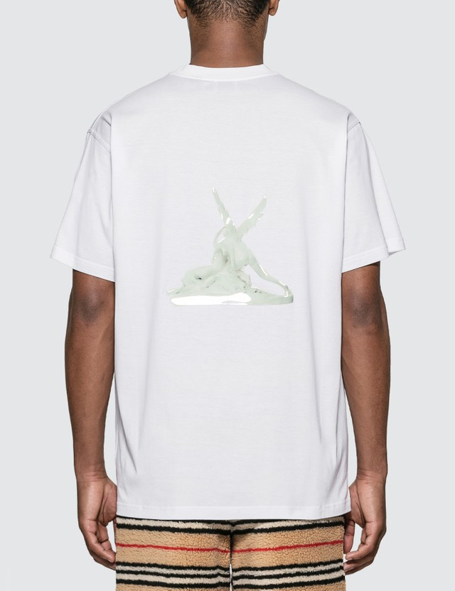 Burberry Cupid Print Cotton Oversized T-shirt White Men