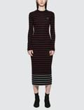 McQ Alexander McQueen Sw Striped Dress Picture
