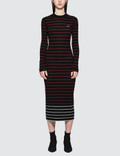 McQ Alexander McQueen Sw Striped Dress Picutre