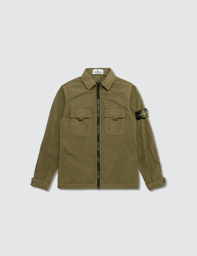 Stone Island Compass Logo Patch Shirt (Kids)