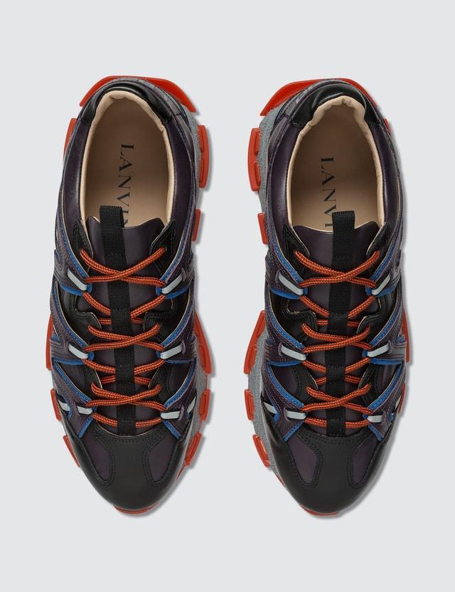 Lanvin Purple Blue Lightning Sneaker