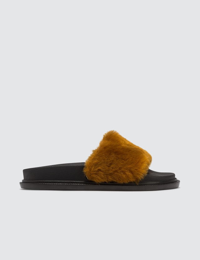 MM6 Maison Margiela Fun Fur Sliders