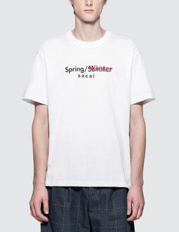 Sacai Printed S/S T-Shirt