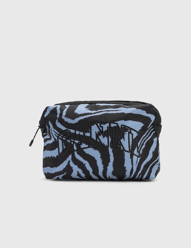 Ganni Recycled Tech Fabric Vanity Case Forever Blue 681 Women