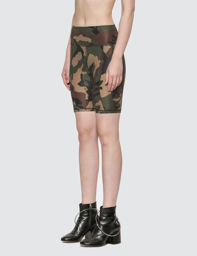 R13 Engineered Biker Shorts Camo Women