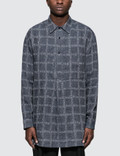 JW Anderson Logo Grid Tunic Linen Shirt Picture