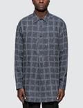 JW Anderson Logo Grid Tunic Linen Shirt