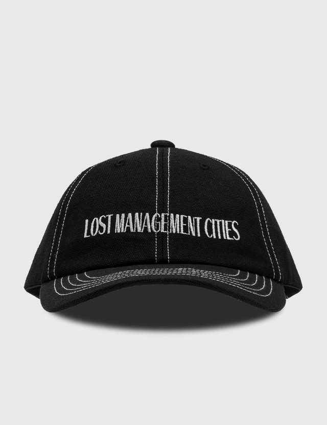 LMC Lmc Contrast Stitch Canvas 6 Panel Cap Black Men