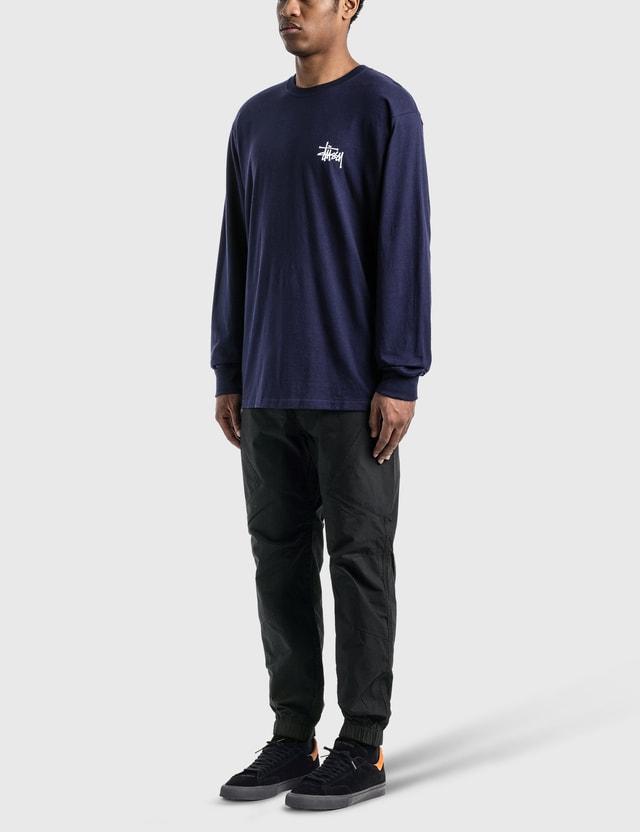 Stussy 베이직 Stussy 긴소매 티셔츠 Navy (fa/ho20) Men