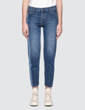 Calvin Klein Jeans Straight Ankle Jeans With Light Vert Picture