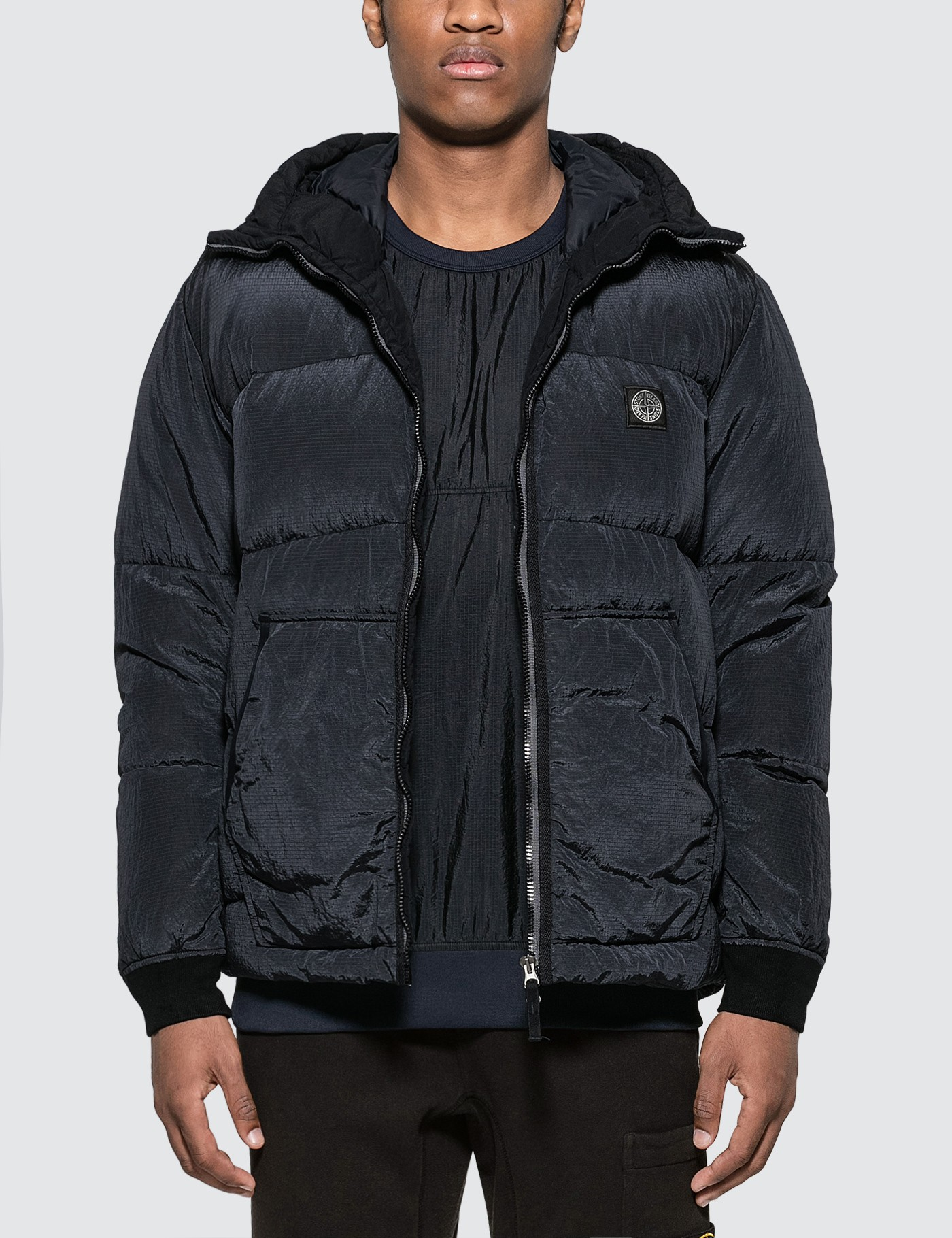 Nylon Ripstop Hooded Down Jacket