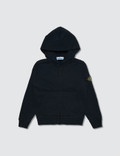 Stone Island Basic Zip Up Kids Hoodie Picture