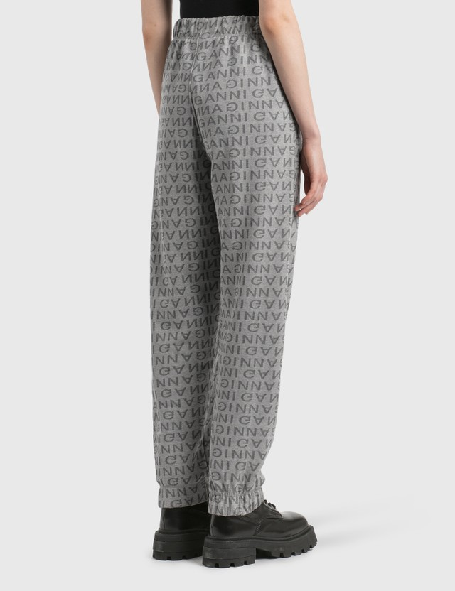 Ganni Jacquard Isoli Elasticated Pants Paloma Melange Women