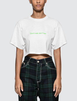 Fuck Art, Make Tees Don't Ask, Don't Tell. Crop Tee