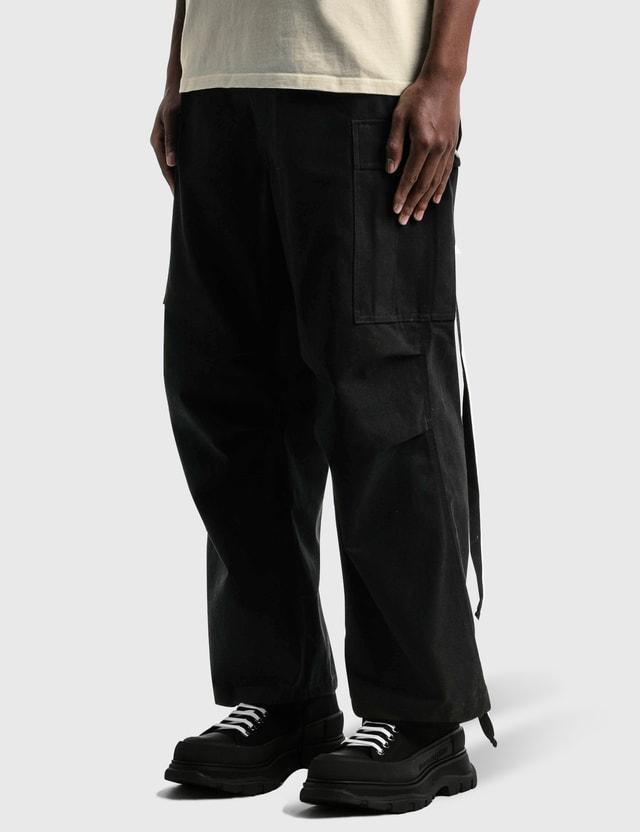 Reese Cooper Brushed Cotton Canvas Cargo Pants Black Men
